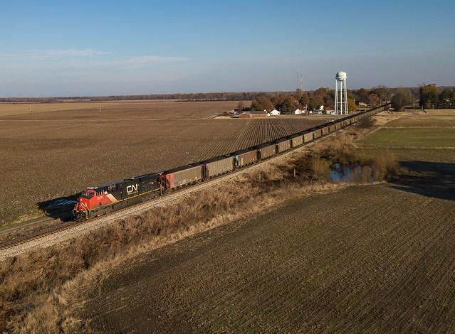 CN 2978 (ES44AC) Loaded Coal  Walls, Mississippi