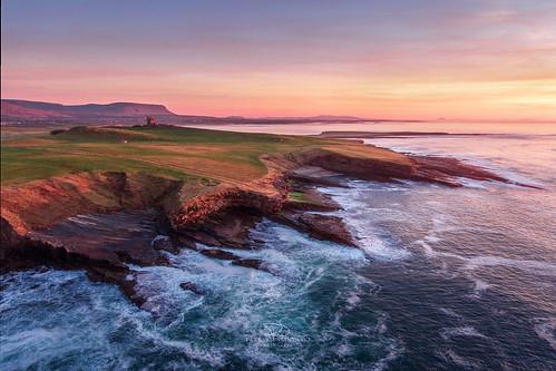 countysligo ireland ie knocknafaugher sea coast rocks sunset