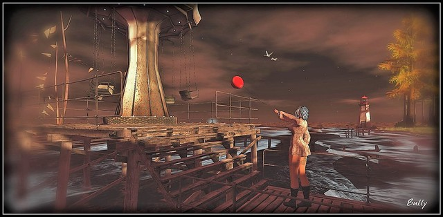 Red A balloon flies away In the sky neither The looks The fingers are tense Around a link Fragile words twirl.......