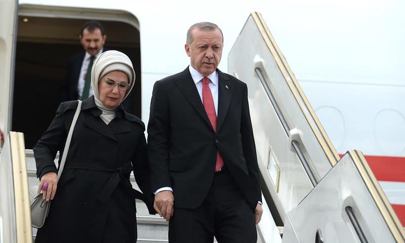 Arrival of Recep Tayyip Erdogan, President of Turkey
