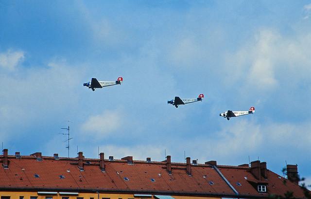 Berlin Flughafen Tempelhof  1992  Ju-52 Schweiz