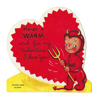 Vintage Child's Valentine - Here's A Warm Wish For My Valentine, An A-Meri-Card, Made In USA, Circa 1950s | by France1978