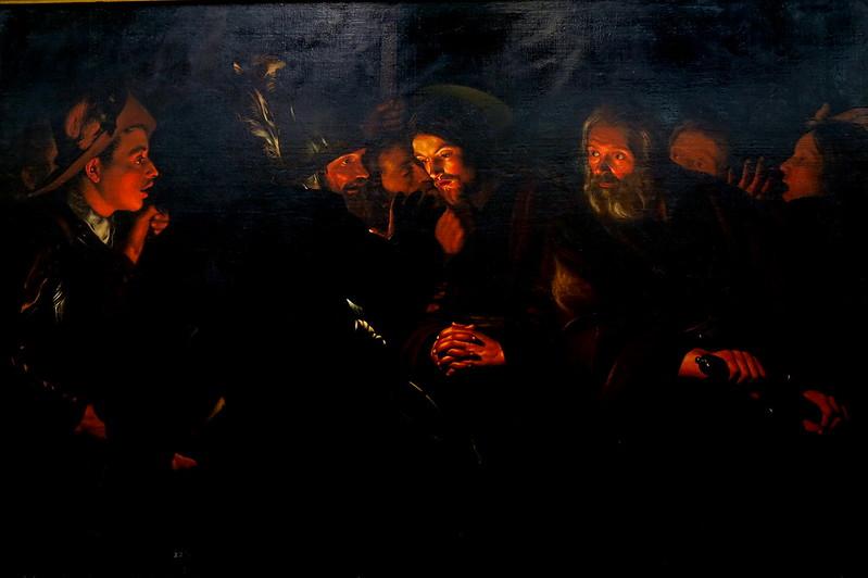 Atribuido a Gerard Seghers (1591-1651), Prendimiento de Cristo, óleo sobre lienzo, a la estela de Caravaggio,