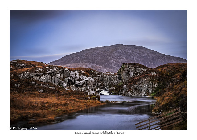 Loch Stacsabhat waterfalls, Isle of Lewis