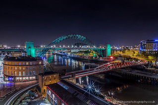 Tyne Bridges lit up in Green for NSPCC | by Splendid What