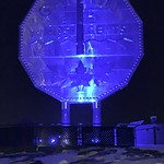 Sudbury - Big Nickel - Shinning Blue for World Diabetes Day