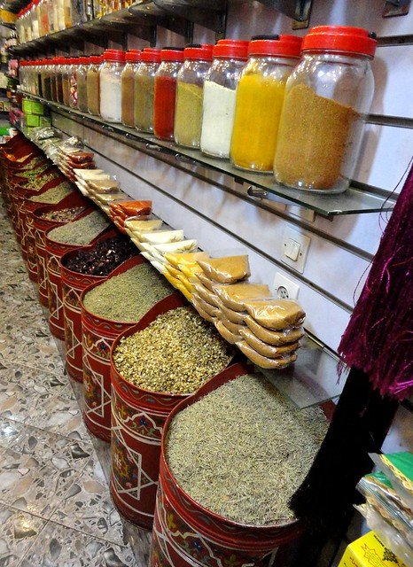Marrakech Spice shop on Rue de la Kasbah