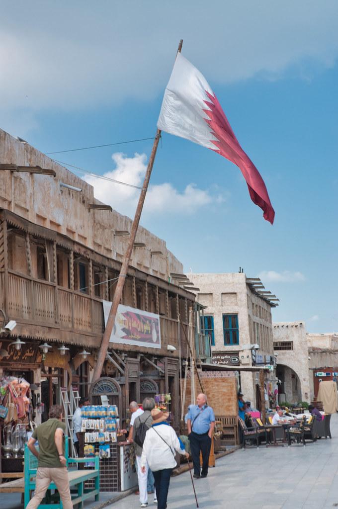 Souq Waqif - Doha, Qatar | The Qatari national flag flying o… | Flickr