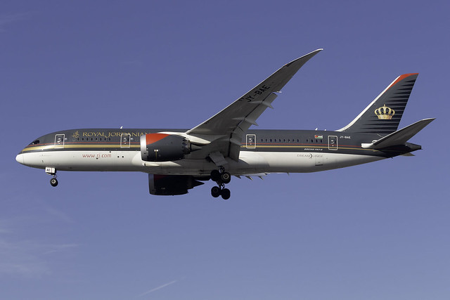 Royal Jordanian 787-8 JY-BAE at London Heathrow LHR/EGLL