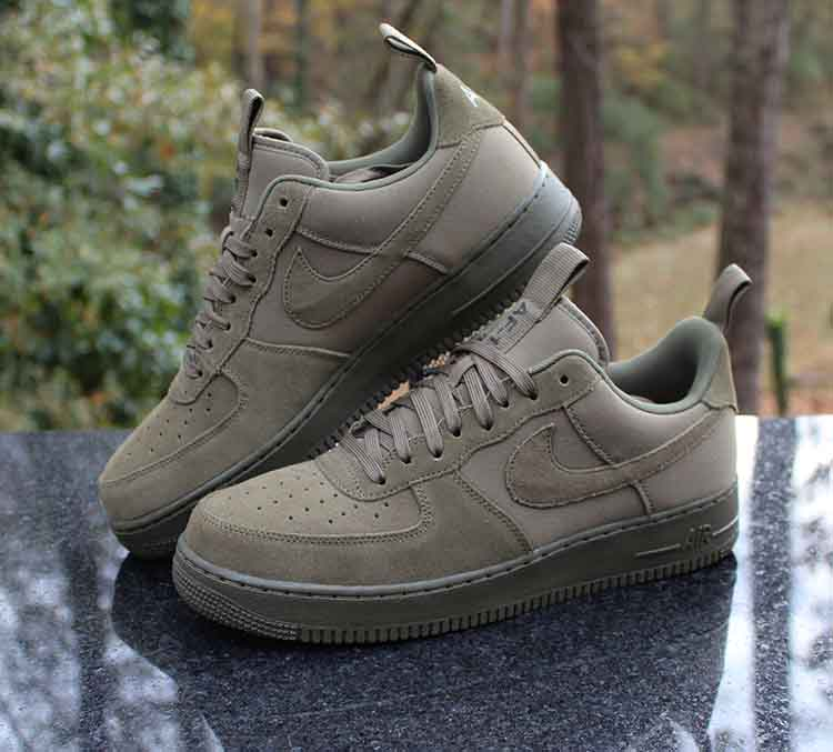 Nike Air Force 1 Low '07 Canvas Medium Olive 579927 200