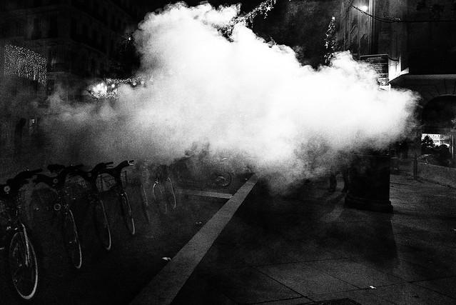 Tear gas attack...