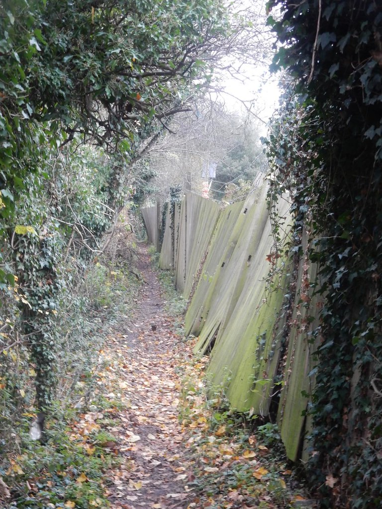 Twisty fence Totteridge Circular