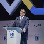 Jose Manuel Barroso during Plenary session 1 at IRU World Congress
