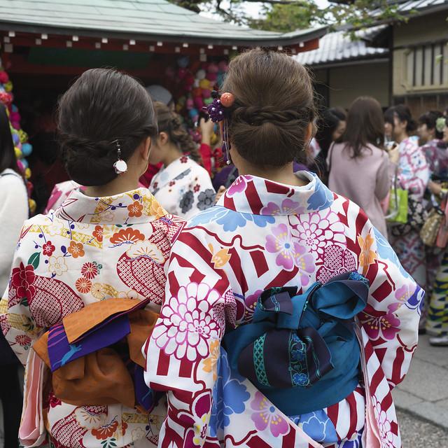 Kimono at Kongo-ji