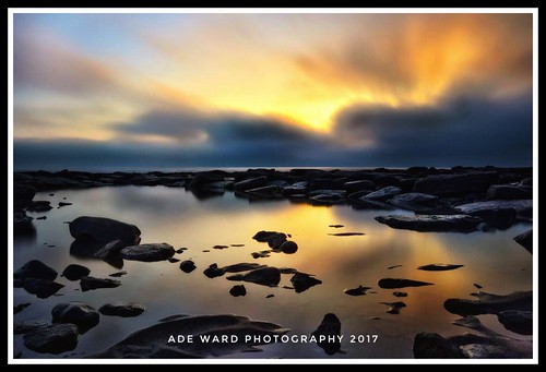 seascape beach tranquility nature water wales dunravenbay seaside sky clouds reflections sunset