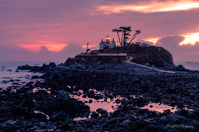 Sunset and Low Tide at Battery Point