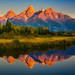 Morning View of Grand Tetons by jthight
