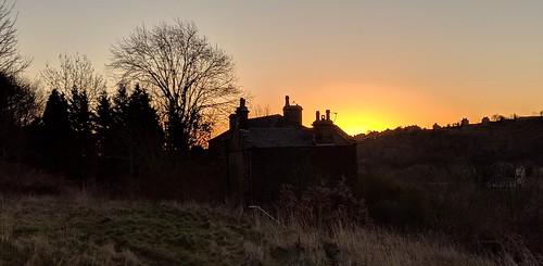 milnsbridge huddersfield west yorkshire england uk sunrise dawn silhouette