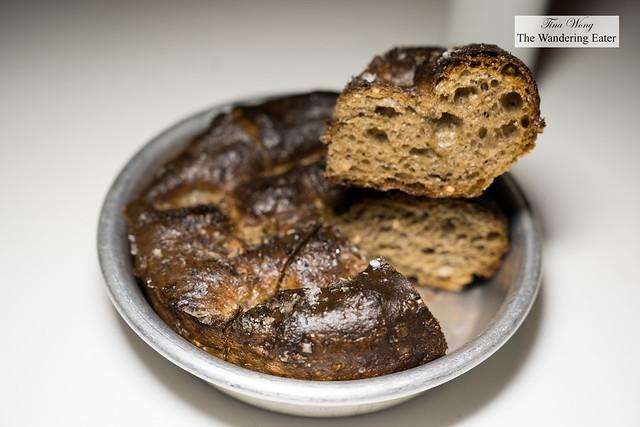 Seven-grain (primary grains: rye, oat, barley) foccacia representative of Chef Boer's background