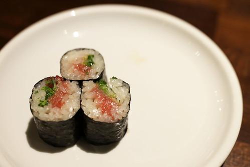 Negitoro Maki (chopped fatty tuna with scallion maki roll)   by JFOODIE