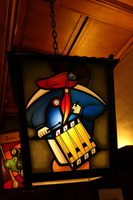 Lampe im Restaurant Gifthüttli in der Altstadt Basel