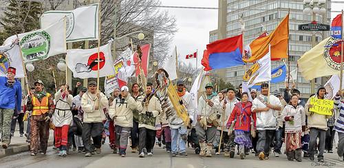 canada cree creewalkers demonstation idlenomore ontario ottawa people culture firstnations indigenous indiginous politics walkers nishiyuu sign