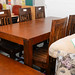 Table and chairs E420 set solid wood