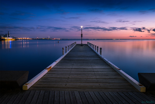coriobay geelongwaterfromt geelong dawn pier jetty wood calm smooth