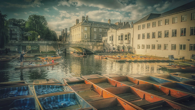 The Cam River.   Cambridge.