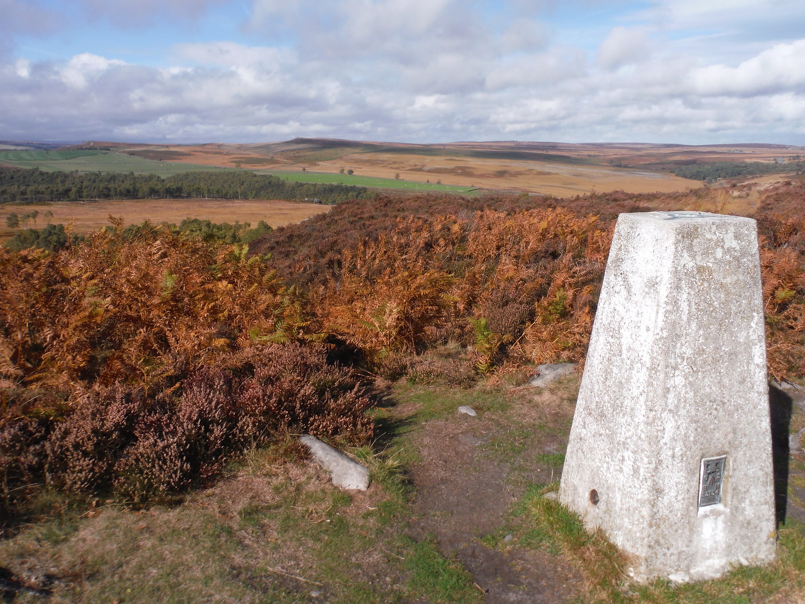 Trig Point on Birchen Edge SWC Walk 322 - Grindleford Circular (via Chatsworth House)
