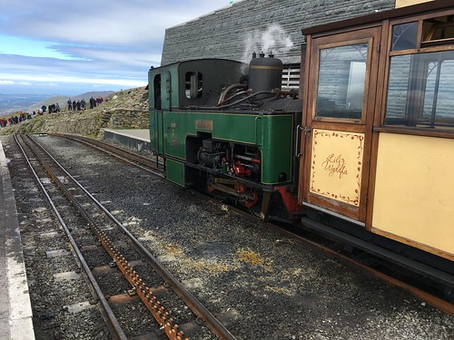 """Wyddfa"" No. 3 Rack and Pinion Engine at Snowdon Summit"