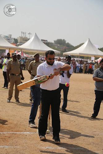 Ramit Ji playing cricket