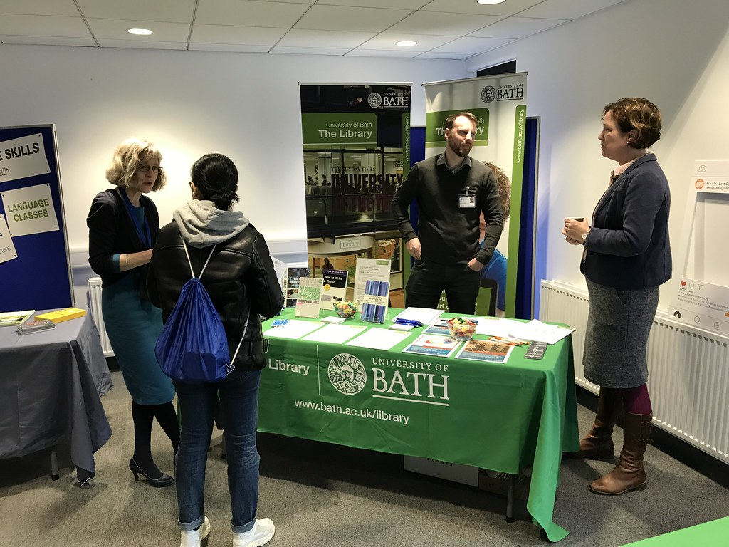 Library stall at the Doctoral Information Fair