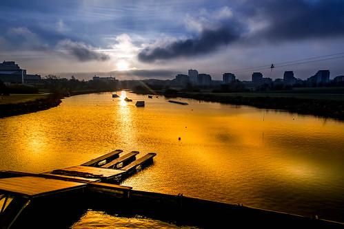 ribban sunlight malmö himmel silhouette sweden soluppgång sky solljus ribersborg sunrise skånelän sverige se