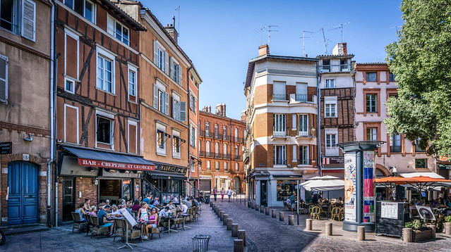 Plaza in Toulouse - France