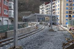 Vista exterior del andén de la nueva estación.