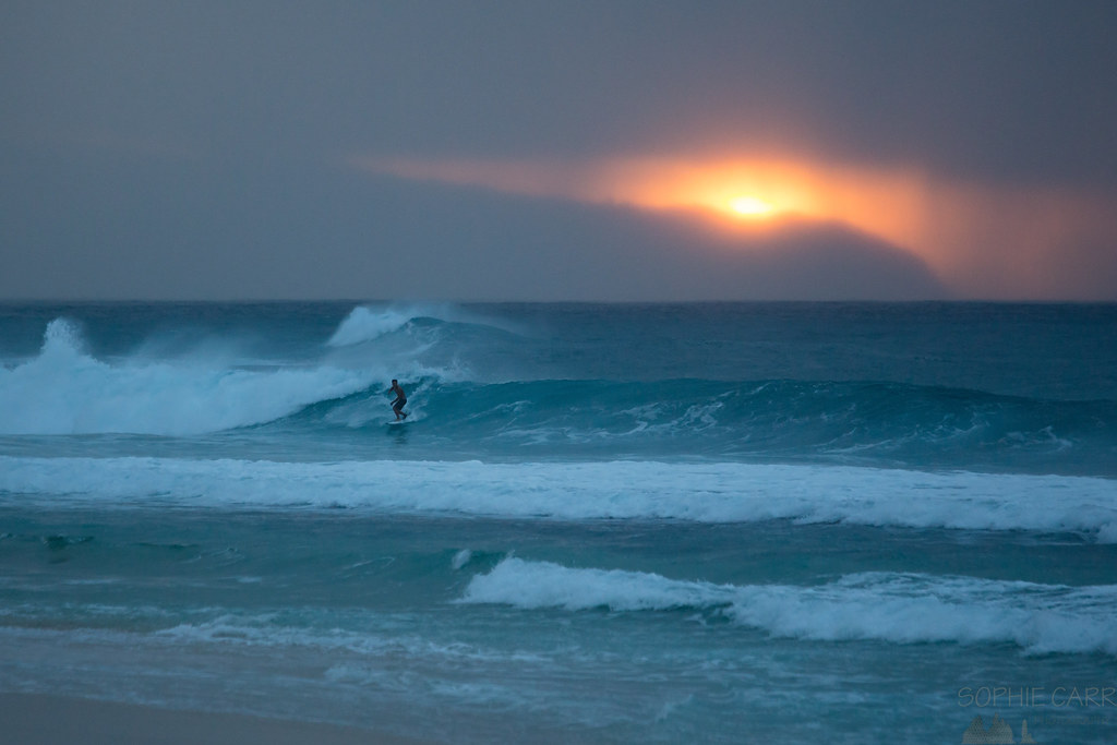 Sunset Surfing Pipeline I Could Watch Surfers Until The L