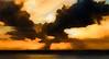 Matanzas Inlet Eagle Sunset Sunburst Impressions by JamesWatkins