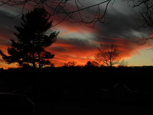 winter sunset january