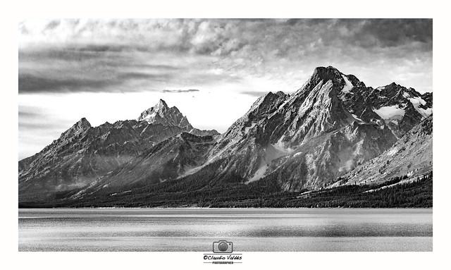 - The Grand Teton Mountains and Jackson Lake  -