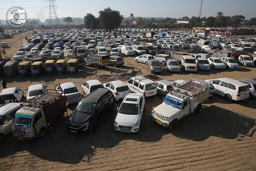 Parking during Samagam at Samalkh Ground