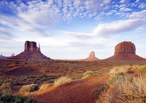 Monument Valley, perhaps the most enduring and definitive images of the American West. Original image from Carol M. Highsmith's America, Library of Congress collection. Digitally enhanced by rawpixel. | by Free Public Domain Illustrations by rawpixel