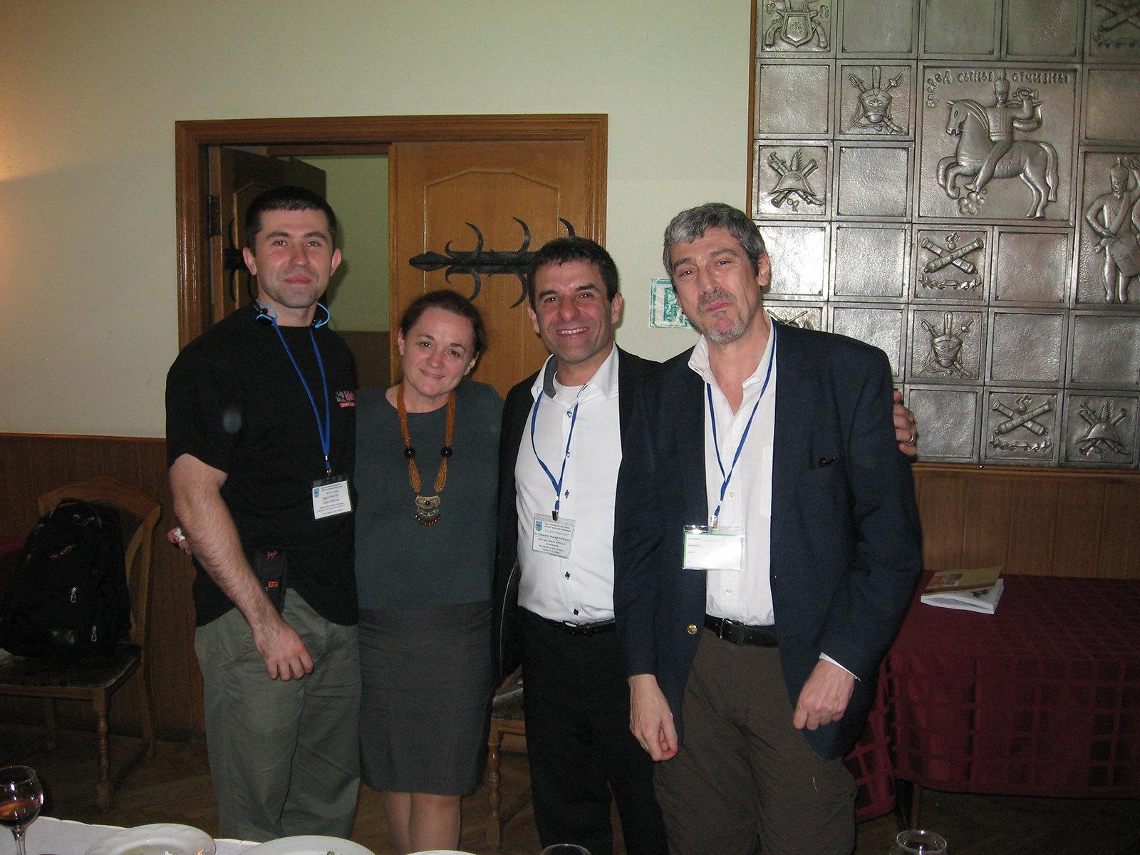 Зліва направо: Сергій Горбатко, Ірина Форостян, Манучегр Моштаг Хорасані, Андре Лупо Синклер.