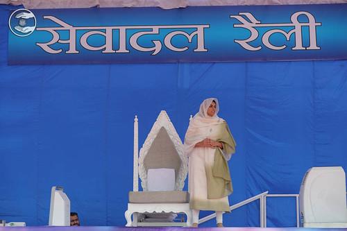 Arrival of Satguru Mata Ji on the holy dais
