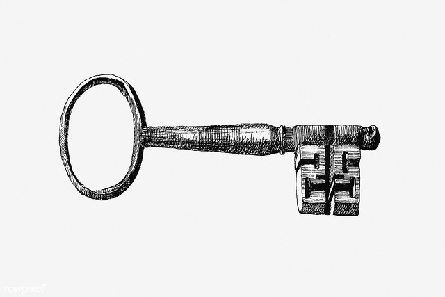 Vintage key illustration
