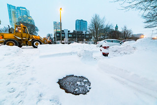 Snow Bulldozing during Blizzard | by VBuckley.com