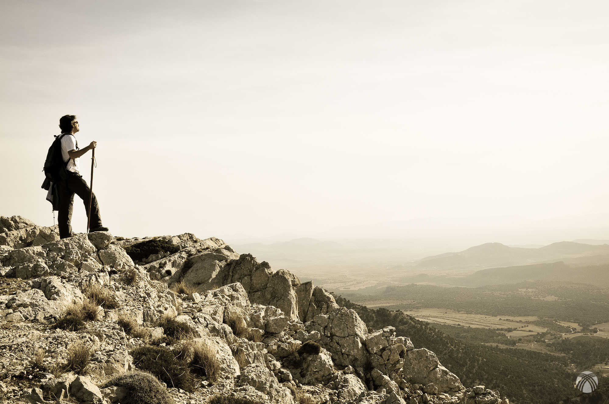 Miguel Ángel disfrutando del panorama