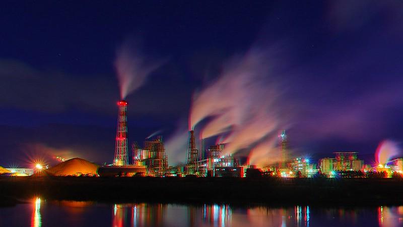 Iwanuma Mill, Nippon Paper Industries Co., Ltd., anaglyph