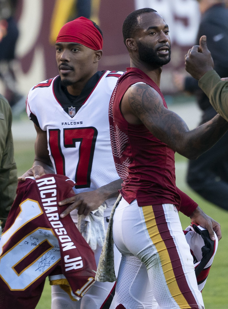 separation shoes 7eb4b 66a32 Marvin Hall, Paul Richardson | Falcons at Redskins 11/04/18 ...