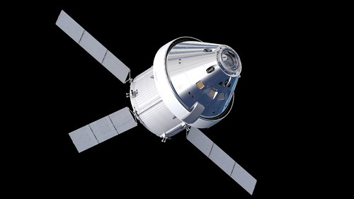 Artist's impression of the Orion spacecraft